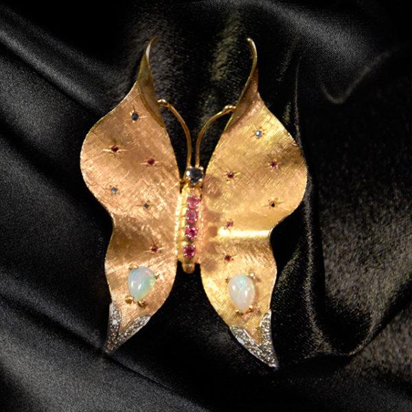 Gold Butterfly Broach