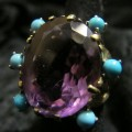 AMETHYST & TURQUOISE RING