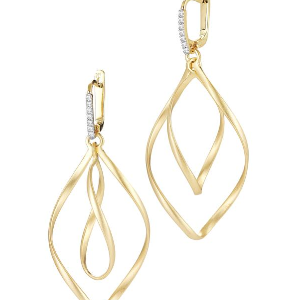14K GALLERY SWIRL EARRINGS