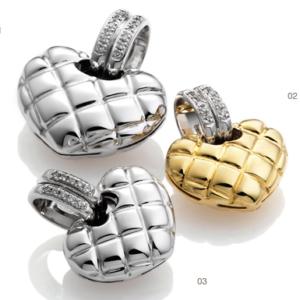 CUORI - HEART PENDANT WITH DIAMONDS