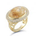14K-Y S.P. COLOR STONE RING, 1.25CT