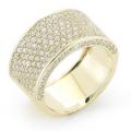 I. REISS 14K YELLOW GOLD DIAMOND RING