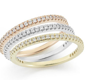 I, REISS 14K STACKABLE GALLERY RINGS