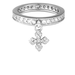 KING BABY CZ RING WITH MB CROSS