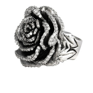 KING BABY ROSE RING WITH CZ