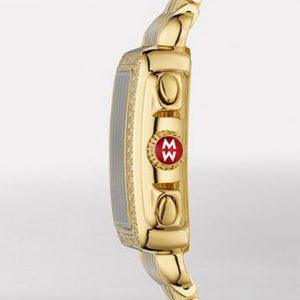 MICHELE SIGNATURE DECO GOLD DIAMOND, DIAMOND DIAL WATCH