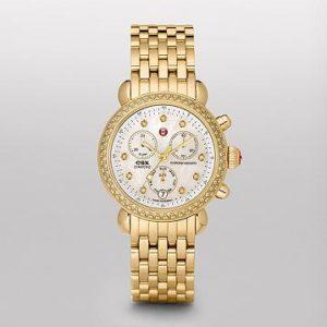 MICHELE SIGNATURE CSX-36 DIAMOND GOLD, DIAMOND DIAL WATCH