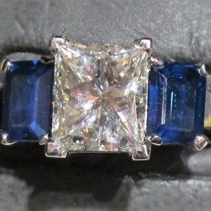 Estate Diamond and Sapphire Ring