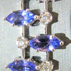 14 KT White Gold Bracelet with 9 CT tw Tanzanite and .60 CT tw Diamonds