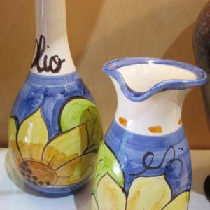 Ceramic Sunflower Motive from Italy