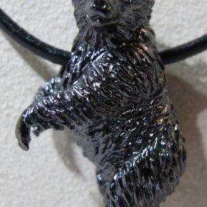 Sterling Silver and Black Rhodium Steven Douglas Highlands Bear