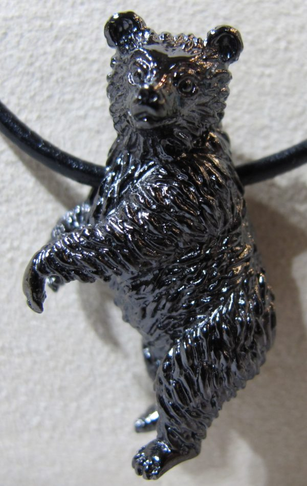Sterling Silver and Black Rhodium Steven Douglas Highlands Bear