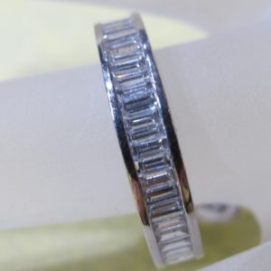Platinum Eternity Band with 2 CT tw Baguette Diamonds (Pre-Owned)