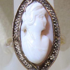 10 KT Yellow Gold Cameo Ring (Pre-Owned)