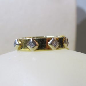 18 KT Yellow Gold Eternity Band with Diamonds (Pre-Owned)