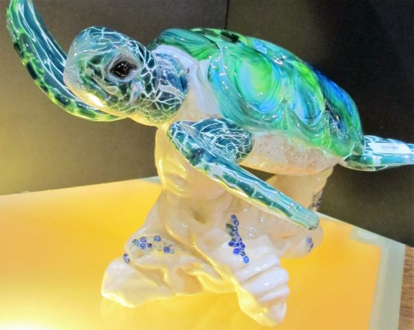 Glass Turtle by Thompson Studio