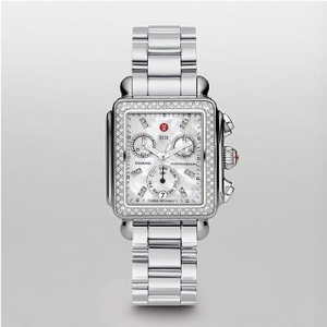SIGNATURE DECO DIAMOND, DIAMOND DIAL 3-LINK WATCH
