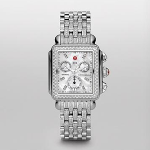 SIGNATURE DECO DIAMOND, DIAMOND DIAL ON DIAMOND BRACELET WATCH