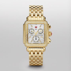 SIGNATURE DECO GOLD DIAMOND MICHELE WATCH