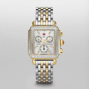 SIGNATURE DECO TWO-TONE DIAMOND MICHELE WATCH