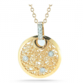14K GALLERY NET PENDANT WITH DIAMONDS
