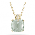 14K SEMI-PRECIOUS COLOR STONE PENDANT WITH DIAMONDS