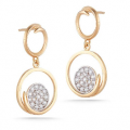 14K GALLERY EARRINGS WITH DIAMONDS