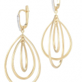 14K TEAR-DROP EARRINGS