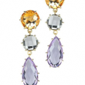 14K SEMI-PRECIOUS COLOR STONE EARRINGS