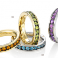 AETERNITAS MULTI-COLORED STONE RINGS
