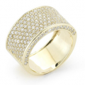 I. REISS 14K YELLOW GOLD DIAMOND RING