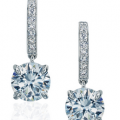 DANIEL K ROUND DIAMOND DROP EARRINGS