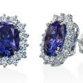 DANIEL K TANZANITE STUD EARRINGS