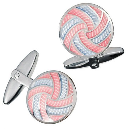 JAN LESLIE COLORFUL PINWHEEL CUFFLINKS