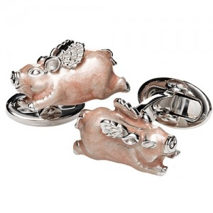 JAN LESLIE WHEN PIGS FLY CUFFLINKS