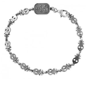 KING BABY SKULL AND CROSSBONES MOTIF BRACELET