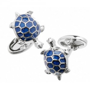 JAN LESLIE ENAMELED TURTLE CUFFLINKS
