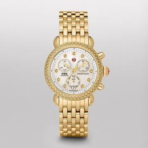 MICHELE SIGNATURE CSX-36 DIAMOND GOLD, DIAMOND DIAL WATCH