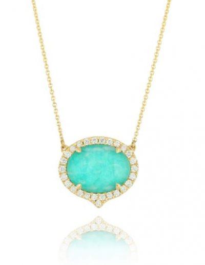 Amazon Breeze Yellow Gold and Diamond Necklace