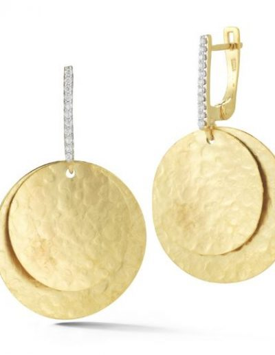 Dangling Disc Earring