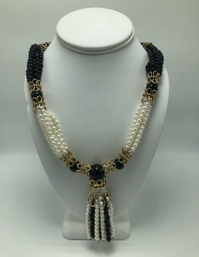 Preowned Diamond & Pearl Necklace