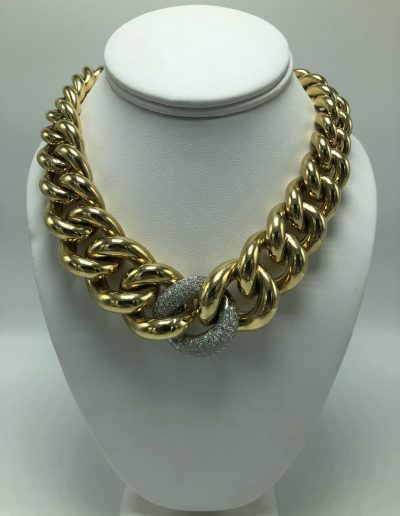 Preowned Diamond & Gold Necklace