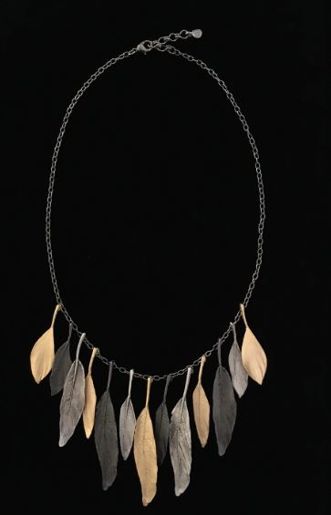 Tricolor Feather Necklace