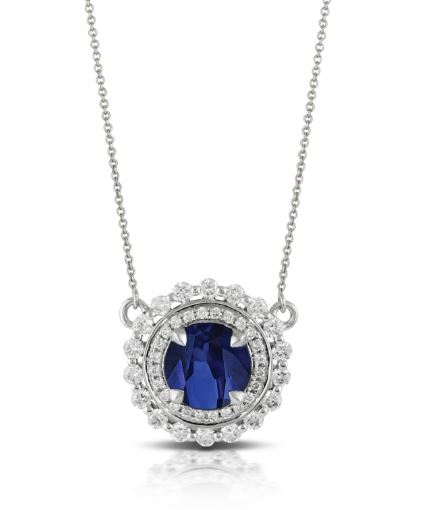 Azure White Gold Diamond Necklace