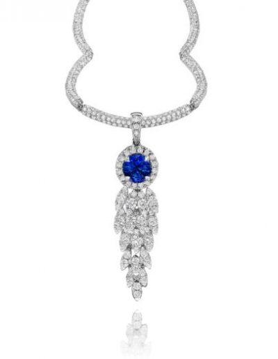 Azure White Gold Diamond Pendant Necklace