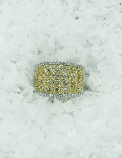 1.82 CT TW of Yellow Diamonds set in 18K