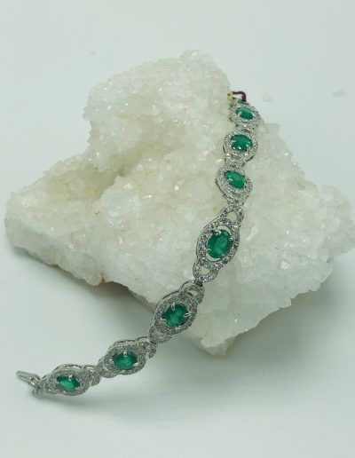 Emerald and Diamond Bracelet