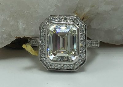 Preowned 5.08 CT Diamond Center Stone with 1.62 CT White Diamonds