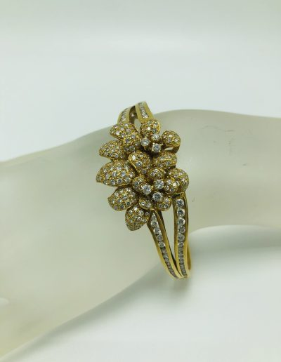 Preowned Flower Yellow Gold