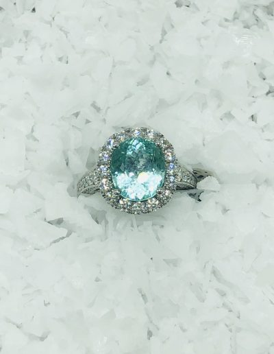 VERY RARE 5.40 CT GIA Certified Paraiba Tourmaline